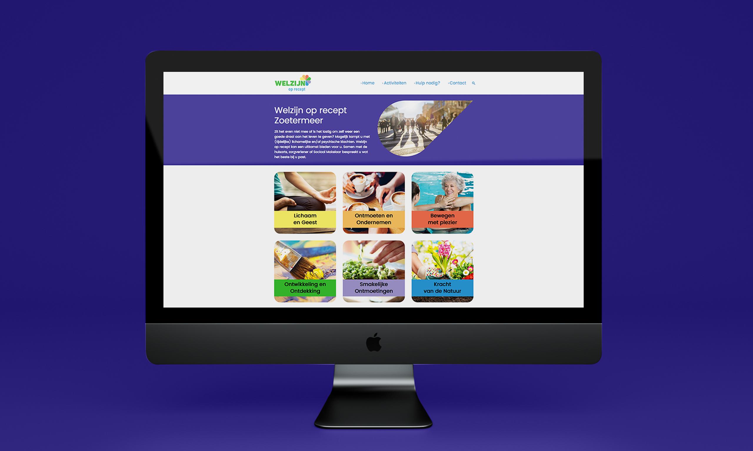 Welzijn op Recept website