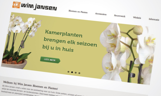 website planten